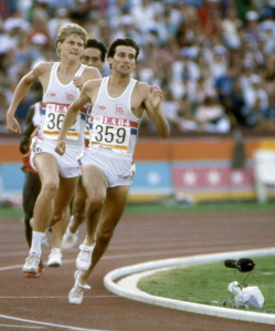 Seb Coe strikes for Gold in the 1,500m final in LA Olympics, 1984